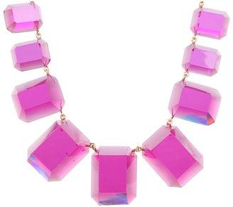 Kate Spade Jumbo Jewels Graduated Necklace (Pink) - Jewelry