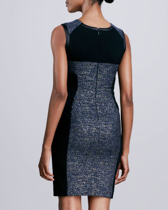 Yoana Baraschi Sleeveless Metallic Tweed Dress