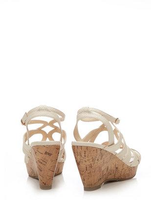 Wallis Cream Wedge Sandal