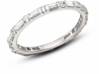 Bloomingdale's Baguette & Round Diamond Band in 14K White Gold, 0.55 ct. t.w. - 100% Exclusive