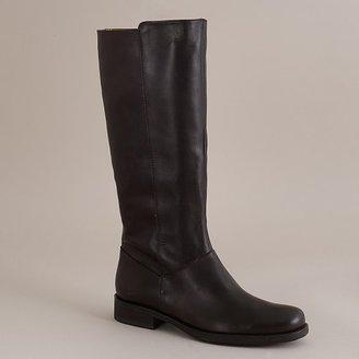 J.Crew Templeton tall leather flat boots