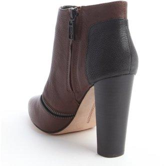 Rebecca Minkoff mahogany leather zip detail 'Dalli' ankle boots