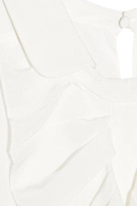 Chloé Ruffled silk crepe de chine top