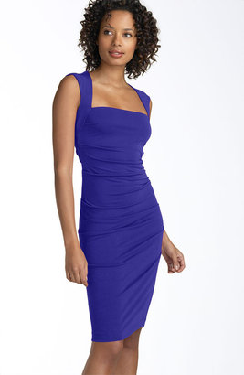 Nicole Miller Open Back Jersey Sheath Dress