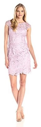 Adrianna Papell Women's Cap Sleeve Lace Dress $180 thestylecure.com