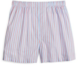 Brooks Brothers Traditional Fit Blue and Coral Ground Stripe Boxers