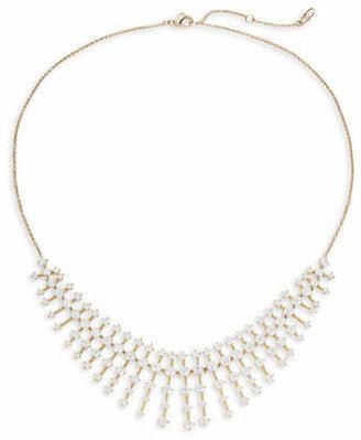 Nadri Goldtone Crystal Spiral Frontal Necklace
