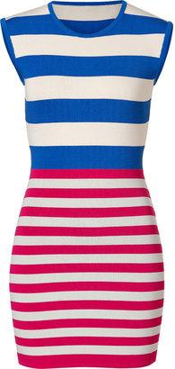 Camilla And Marc Royal Blue/Fuchsia Knit Exemption Dress
