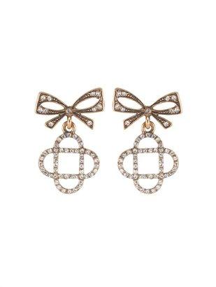 Oscar de la Renta Mosaico Bow Pave Earring