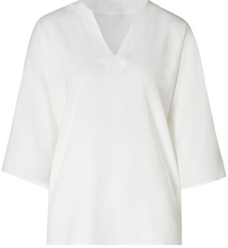Etro Oversized V-Neck Top with 3/4 Sleeves