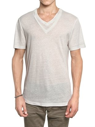 Neil Barrett Double V-Collar Jersey T-Shirt