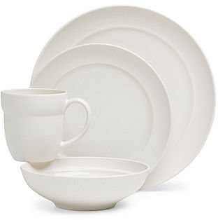 Dansk Dinnerware, Tera White 4 Piece Place Setting