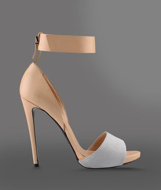 Emporio Armani Two-Color Sandal With Suede Detail