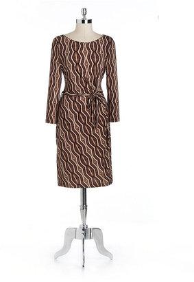 Anne Klein Geometric Side-Tie Dress