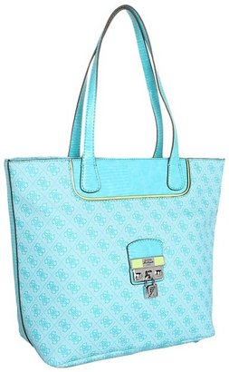 GUESS Hewitt Small Carryall (Turquoise Multi) - Bags and Luggage