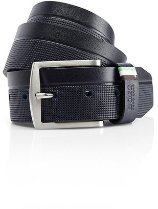 HUGO BOSS 'Tendrik' | Embossed Leather Belt by BOSS Green