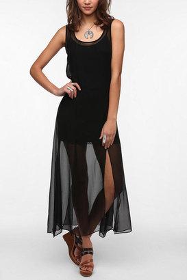 Kova And T KNT By Kova & T Sheer Chiffon Maxi Dress