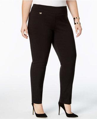 Alfani Plus & Petite Plus Size Tummy-Control Pull-On Skinny Pants
