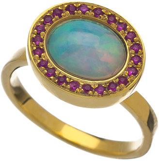 KiraKira Blue Opal Pink Sapphire Kori Ring