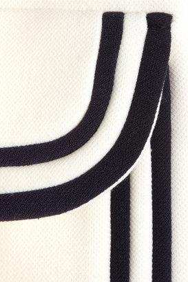 A-line wool-piqué coat