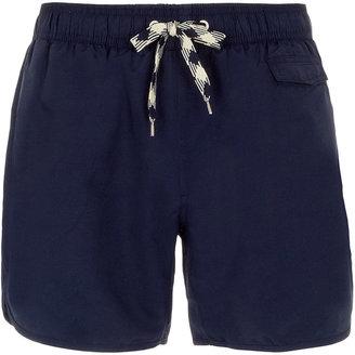 Topman Navy Swim Shorts