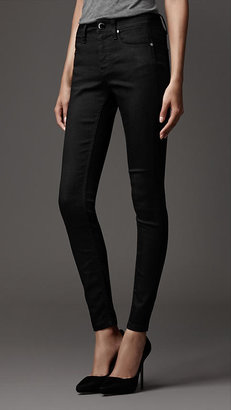 Burberry Jersey Panel Skinny Fit Jeans