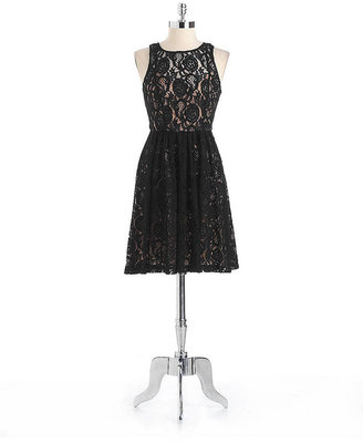 Plenty by Tracy Reese Floral Layered Lace Dress