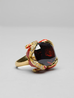 Noir CZ Enamel Ring