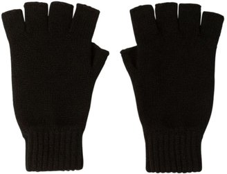 Johnstons of Elgin Fingerless Cashmere Gloves Black