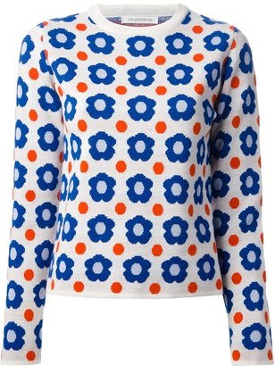 J.W.Anderson cashmere and wool blend knitted jacquard floral sweater