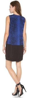 Rebecca Taylor Sleeveless Python Shift Dress