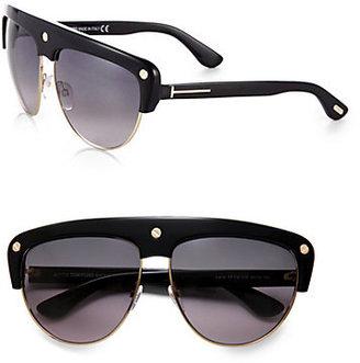 Tom Ford Liane Shield Aviator Sunglasses