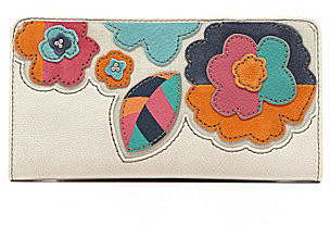Fossil Hunter Floral Zip Clutch Wallet