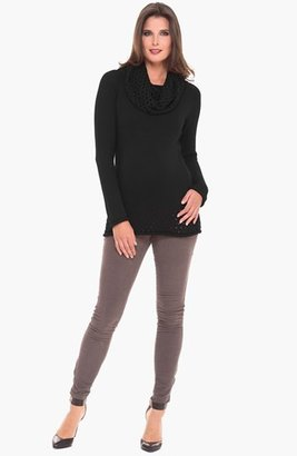 Olian Cowl Neck Maternity Sweater