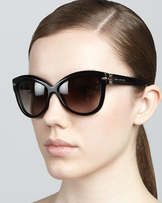 Marc Jacobs Rounded Cat-Eye Sunglasses, Black