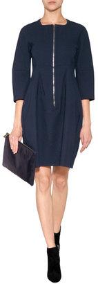 Jil Sander Cotton-Blend Psiche Dress in Ink