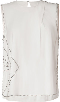 By Malene Birger Creme Embellished Top