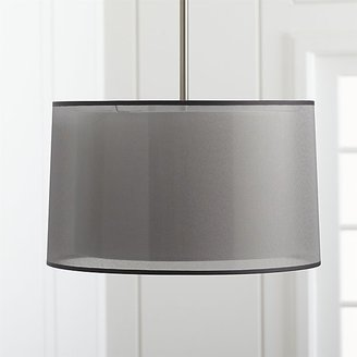 Crate & Barrel Eclipse Silver Pendant Light