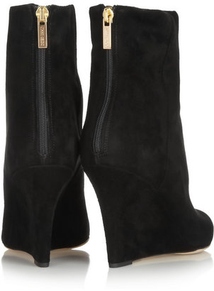 Jimmy Choo Mayor suede wedge ankle boots