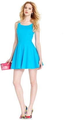 GUESS Dress, Sleeveless Scoop-Neck Cutout A-Line