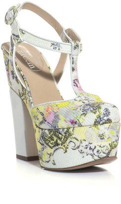 Nicholas Kirkwood For Erdem Chinon-print platform shoes
