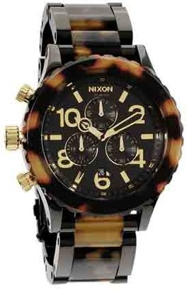 Nixon 42-20 Chrono Watch - All Black / Tortoise