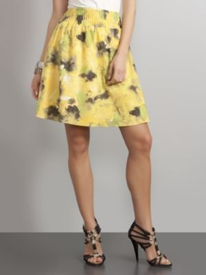 New York & Co. Watercolor Floral Soft Skirt