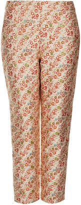 Topshop Ditsy Floral Jacquard Trousers
