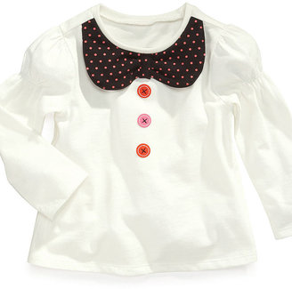 First Impressions Baby Shirt, Baby Girls Peter Pan Top