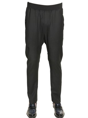 Les Hommes Techno Wool Stretch Low Crotch Trousers