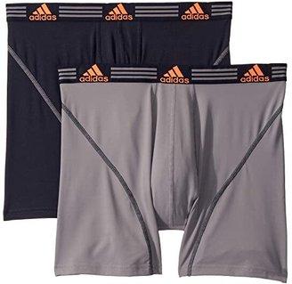 adidas Sport Performance ClimaLite(r) 2-Pack Boxer Brief (Grey/Legend Ink Blue/Solar Orange/Legend Ink Blue) Men's Underwear