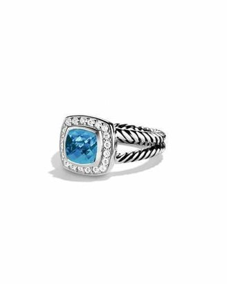 David Yurman Petite Albion Ring with Blue Topaz and Diamonds $675 thestylecure.com