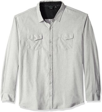 Burnside Men's Cater 2 Long Sleeve Button Down Solid Flannel Shirt