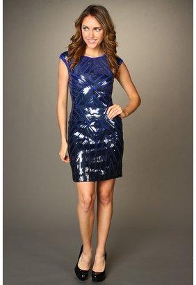 BCBGMAXAZRIA Pat Ombre Sequin Sheath Dress (Royal Blue Combo) - Apparel